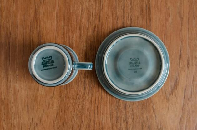 アラビア メリのカップ&ソーサーの底