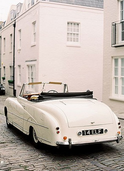 White Vintage Bentley