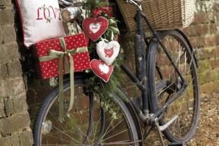 ハートを積んだ自転車